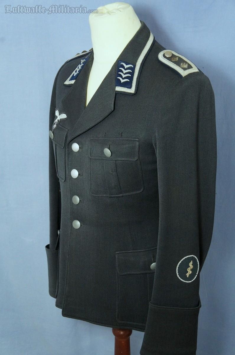Luftwaffe Service tunic for a Medical Oberfeldwebel